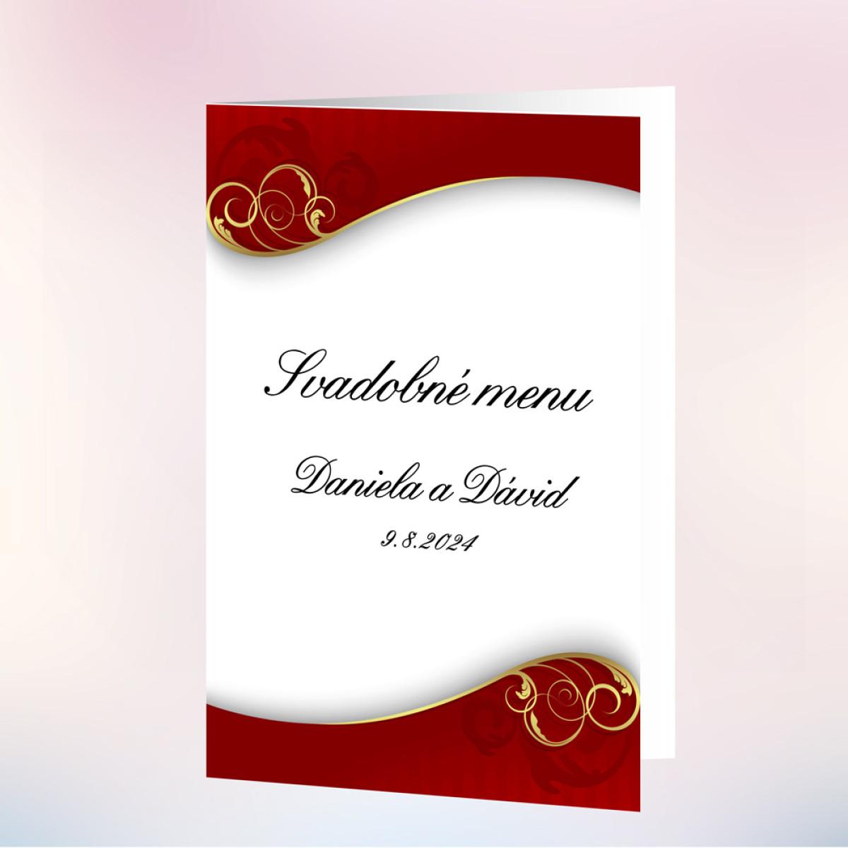 30b64342f87a Svadobné menu DEKOR - Červená svatební výzdoba - Svatební inspirace