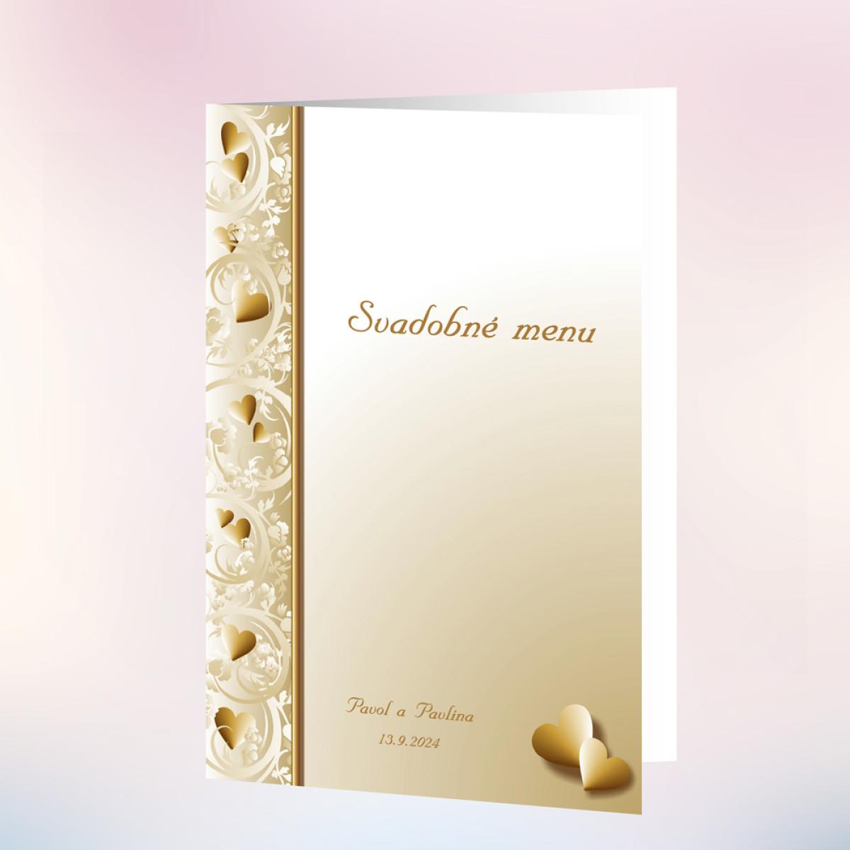 00b48509cc0f Svadobné menu ELEGANCE - Zlaté dekorace - Zlatá svatba